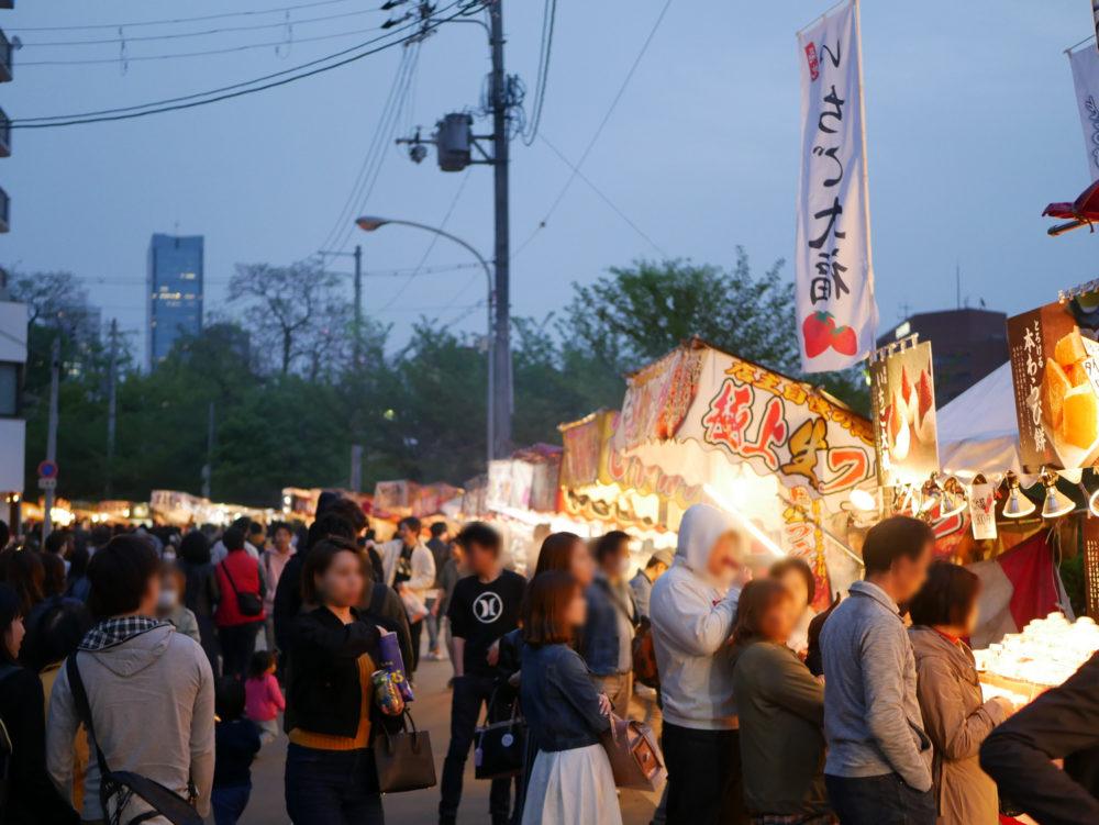 大阪造幣局の桜の通り抜け出店